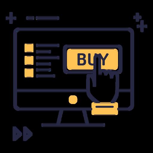 Online shopping stroke icon