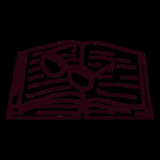 Open book glasses stroke