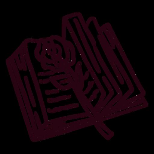 Open book rose stroke