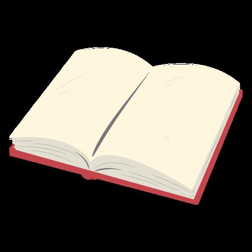Open red school book flat