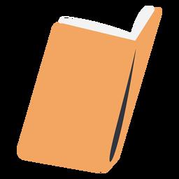 Open yellow school book flat
