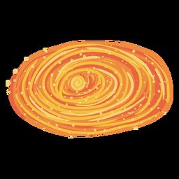 Orange galaxy illustration