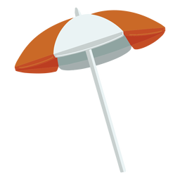 Orange parasol illustration