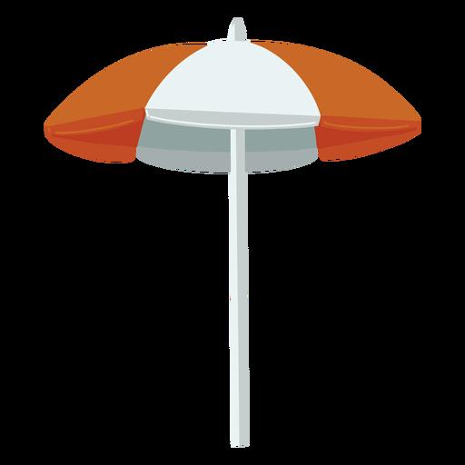 Ilustración de sombrilla blanca naranja