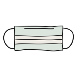 Ilustração de máscara de papel