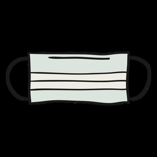 Ilustración de máscara de papel