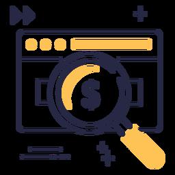 Icono de trazo de tarjeta de crédito de pago