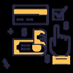 Icono de trazo de método de pago