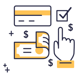 Payment method stroke icon