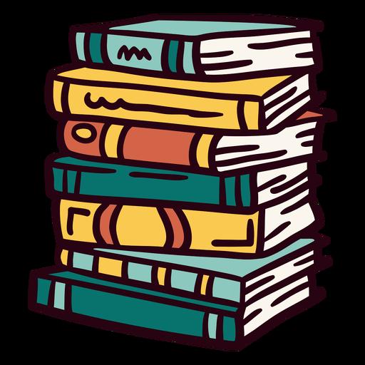 Ilustração da pilha de livros