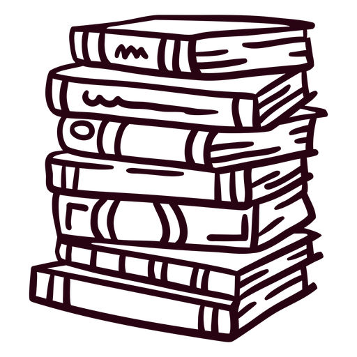 Pila de trazo de libros