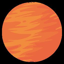 Ilustração de Marte do planeta