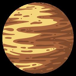 Ilustración de planeta plutón