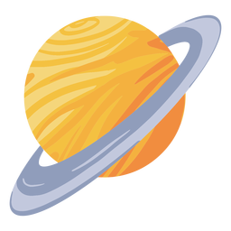 Planet saturn illustration