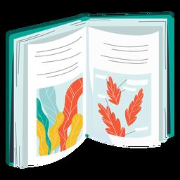 Ilustración del libro de plantas