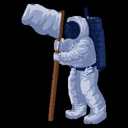Ilustración orgullosa de la bandera del astronauta