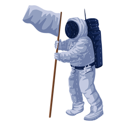 Proud astronaut flag illustration