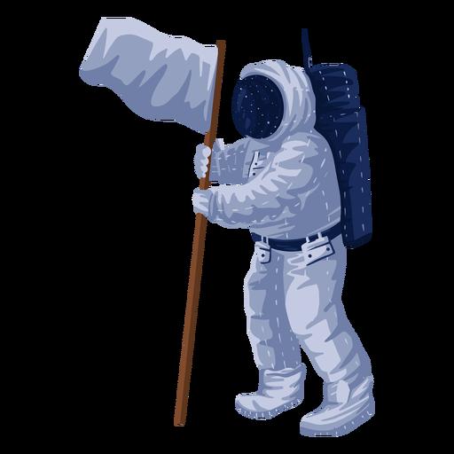 Proud astronaut flag illustration