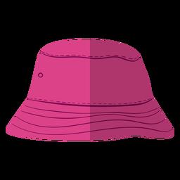 Ilustração de chapéu roxo balde