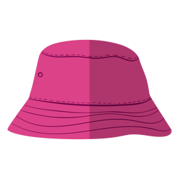 Purple bucket hat illustration