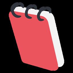 Cuaderno rojo plano