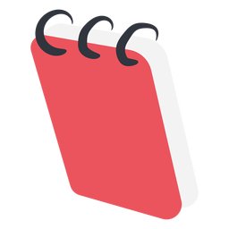 Red notebook flat