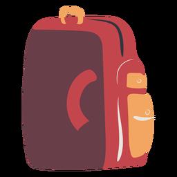 Mochila escolar vermelha plana