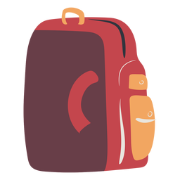 Red school backpack flat