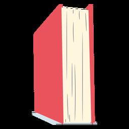 Libro escolar rojo plano