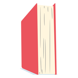 Red school book flat