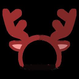 Ilustração de fita de cabeça de rena