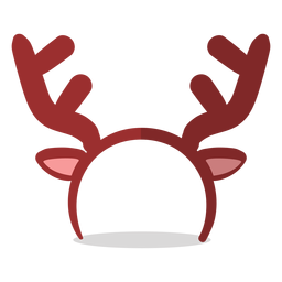 Reindeer headband illustration