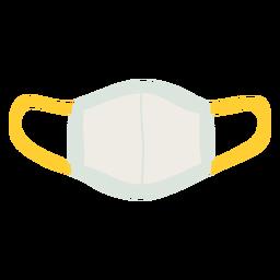 Máscara reutilizável plana