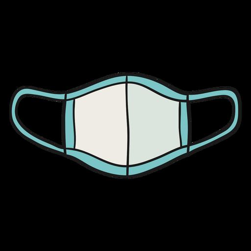 Ilustração de máscara reutilizável