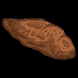 Rock asteroid orbit illustration