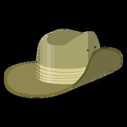 Ilustración de sombrero de safari