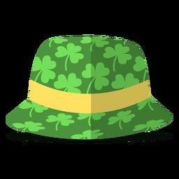 Ilustración de tréboles de sombrero de san patricio