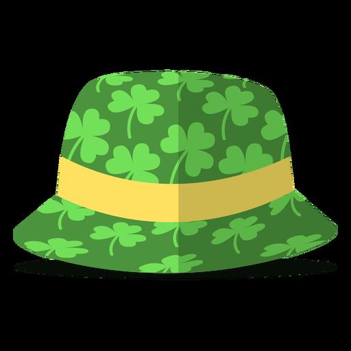 Saint patricks hat clovers illustration