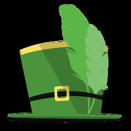Ilustración de plumas de sombrero de san patricio