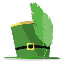 Saint patricks hat feathers illustration
