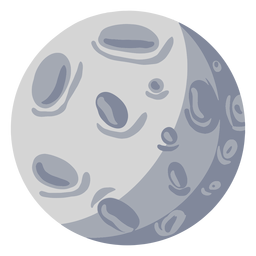 Satelite moon illustration