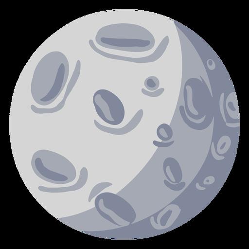 Satelite moon illustration