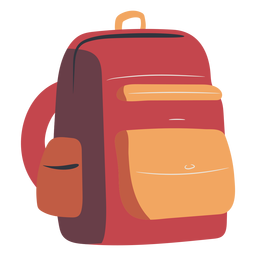 School backpack red flat