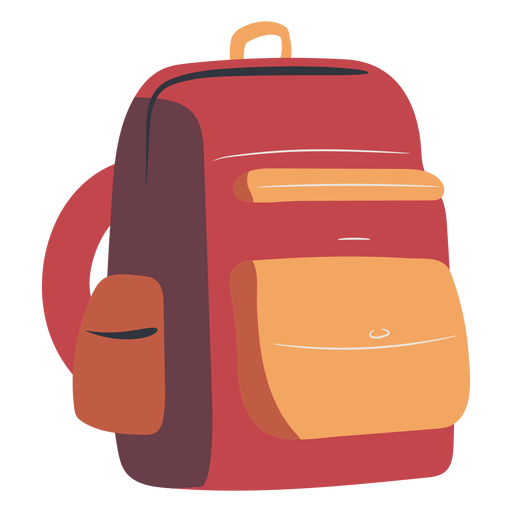 Mochila escolar plana roja