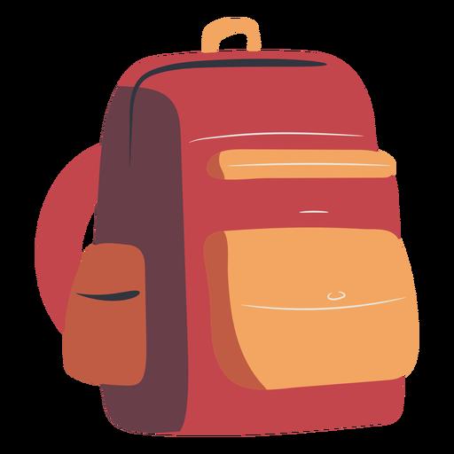 School backpack red flat