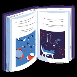 Ilustração de livro de ciência