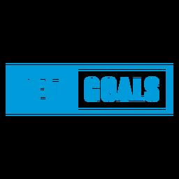 Distintivo de metas definidas