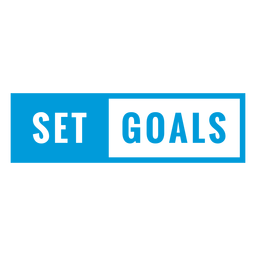 Set goals badge