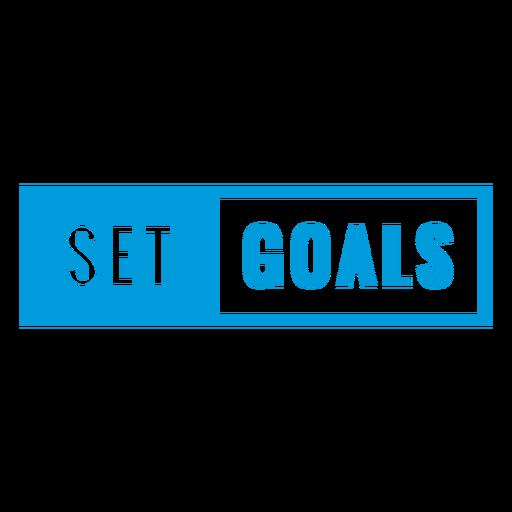 Establecer metas insignia