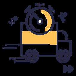 Icono de trazo de entrega de envío